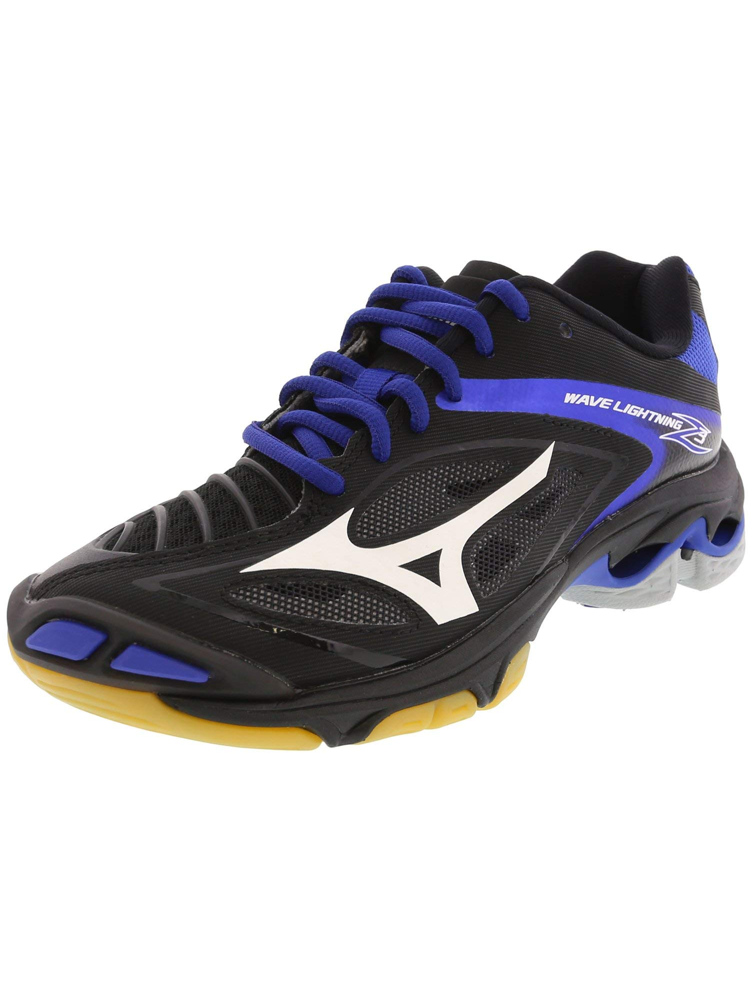 Mizuno Women's Wave Lighting Z3 Volleyball Shoe,Black/Royal,6 B US