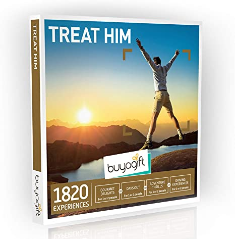 Buyagift Treat Him Gift Experiences Box 1 820 Gift Experiences For Men From Extreme Adventure To Male Grooming Amazon Co Uk Sports Outdoors