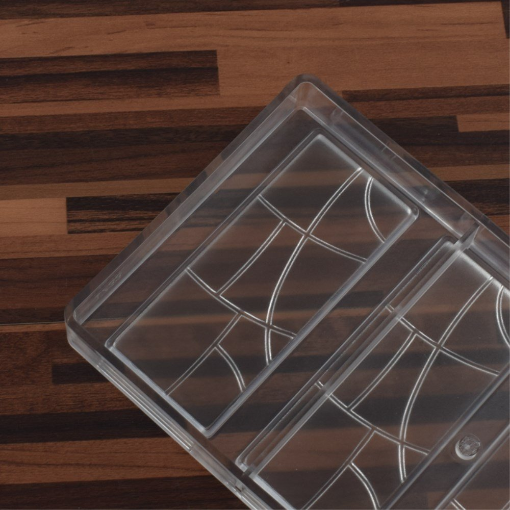 Amazon.com: Grainrain Rectangle Chocolate Bar Mold Polycarbonate Chocolate Mold Mould Clear Hard Chocolate Maker Candy Jelly Mould Cake Decoration Mold: ...