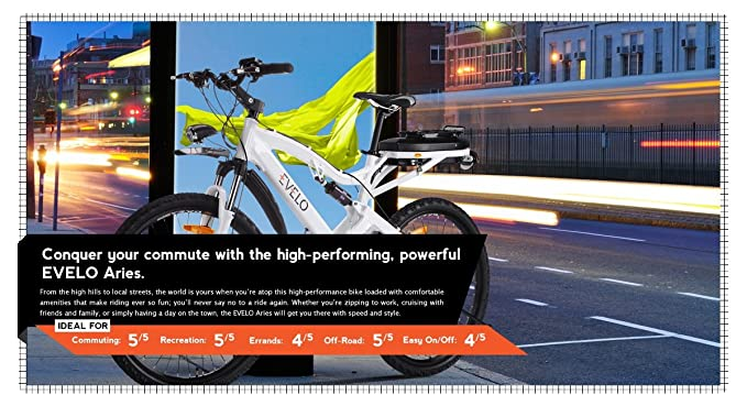 Amazon.com: evelo Aries Electric bicicleta con NuVinci N360 ...