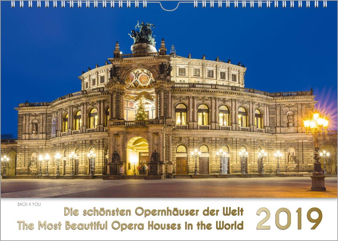 Opernhäuser - Musik-Kalender 2019, DIN-A4: Die schönsten Opernhäuser der Welt - The Most Beautiful Opera Houses in the World (Englisch) Kalender – Wandkalender, andere Kalender Renate Bach Peter Bach jr. Bach 4 You 3945760615