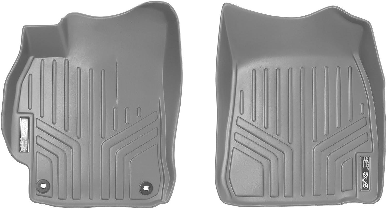 SMARTLINER Floor Mats 1st Row Liner Set Grey for 2012-2015 Toyota Camry
