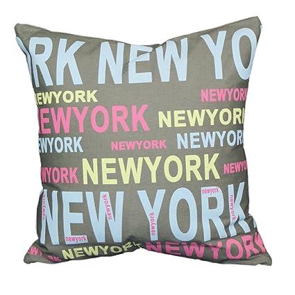 Amazon.com: Urban Loft por Pantalón Nueva York Cojín de ...