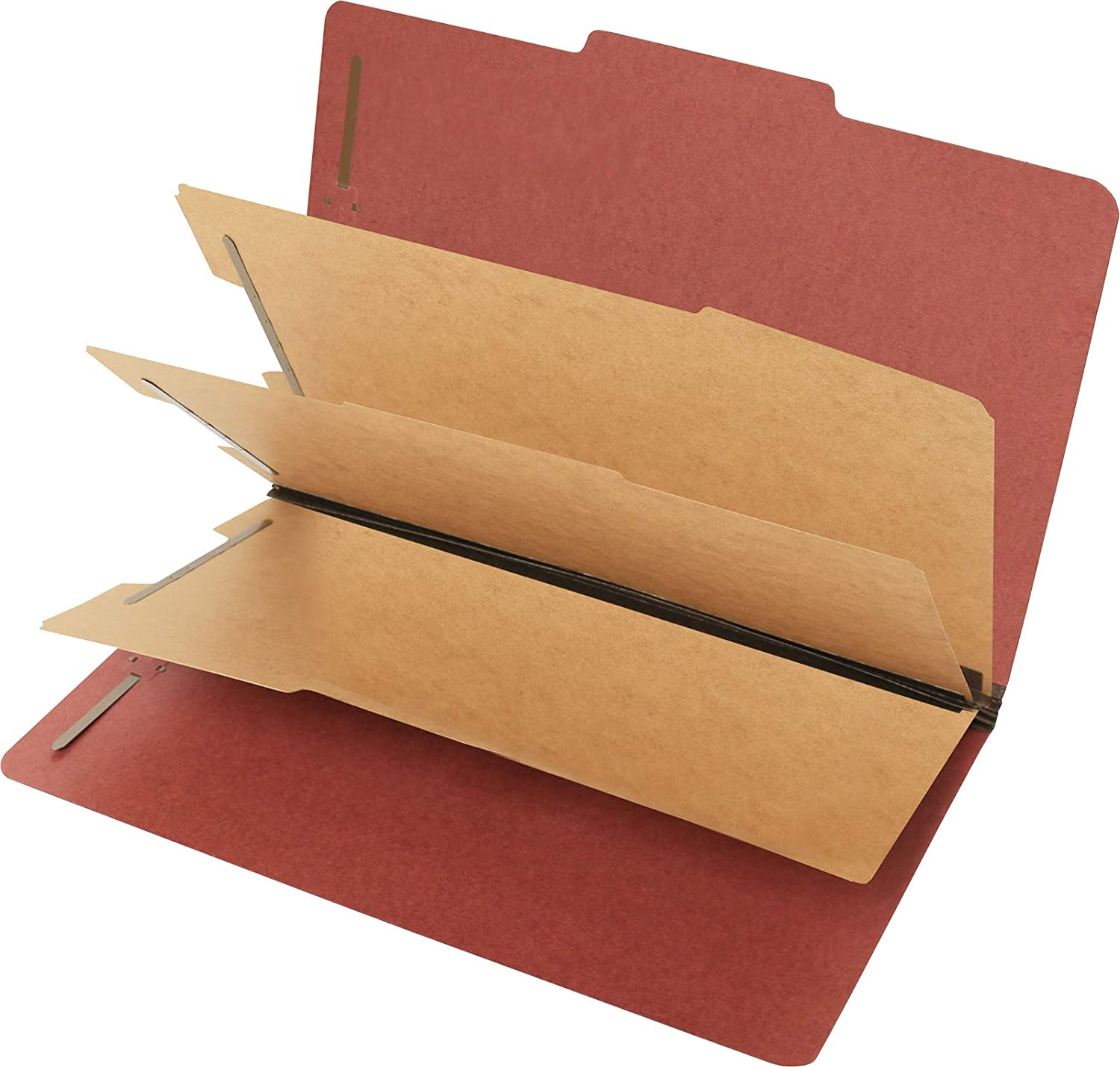 Pendaflex Classification File Folders 3 Dividers 2 Embedded Fasteners Legal Size Red Pack of 10