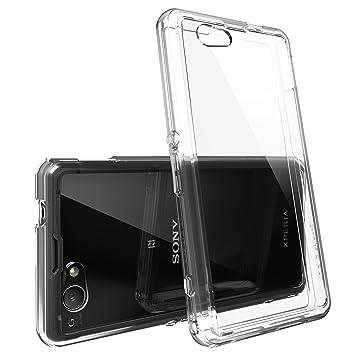 [Gratis HD Pantalla-Caída Protección]Ringke FUSION Xperia Z1 Compact Funda Carcasa Bumper Case Cover [CRYSTAL VIEW Cristal] Prima Híbrido Duro ...