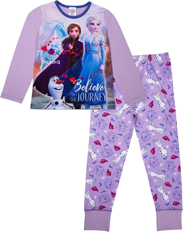 Disney Frozen Girls Long Pyjamas Pjs