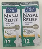2 Pack - Family Care Nasal Relief Anti-drip Pump Mist - Oxymetazoline HCl