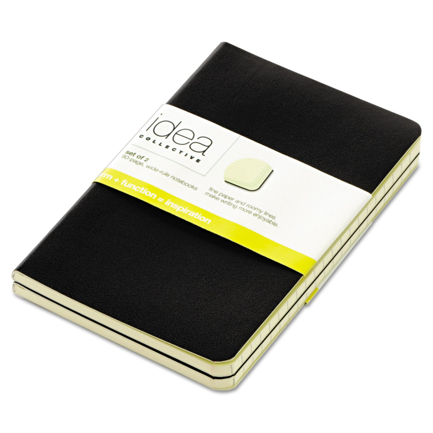 TOPS 56877 Idea Collective Journal, Soft Cover, Side, 5 1/2 x 3 1/2, Black, 40 Sheets, 2/PK