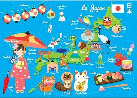 Juego de mesa para niños: mapa del japón.: Amazon.es: Hogar