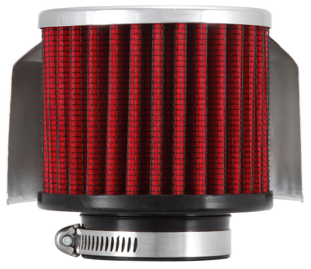 K&N 62-1514 Vent Air Filter / Breather: Vent Air Filter/ Breather; 1.5 in (38 mm) Flange ID; 2.5 in (64 mm) Height; 3 in (76 mm) Base; 3 in (76 mm) Top