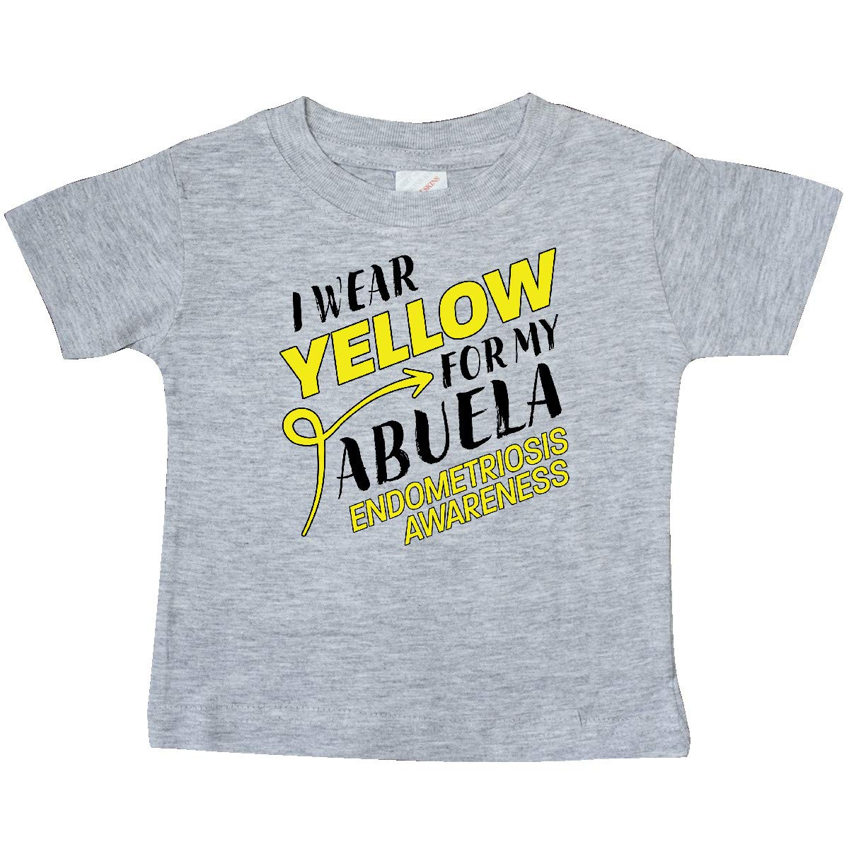 Endometriosis Awareness Baby T-Shirt inktastic I Wear Yellow for My Abuela