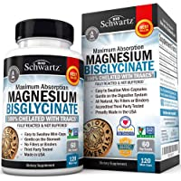 Magnesium Bisglycinate 100% Chelate TRAACS. No-Laxative Effect. Maximum Absorption & Bioavailability
