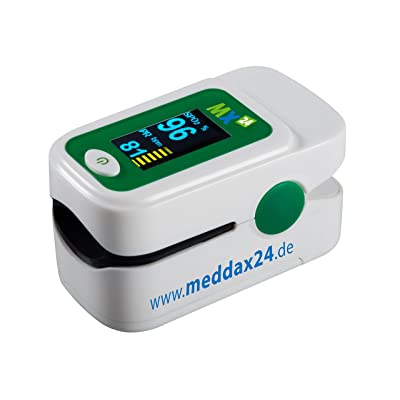 'Oxymètre de pouls mx24Ultimate avec 1,04OLED, écran couleur et accessoires Blanc fingerpulsoximeter