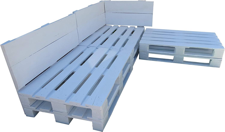 Conjunto de palets para zona Chill Out & Piscina & Jardín & Interior & Exterior formado de 3 cuerpos (3 sofas): Amazon.es: Hogar