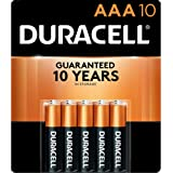 Duracell - CopperTop AAA Alkaline Batteries - long lasting, all-purpose Double A battery for household and business - 10…