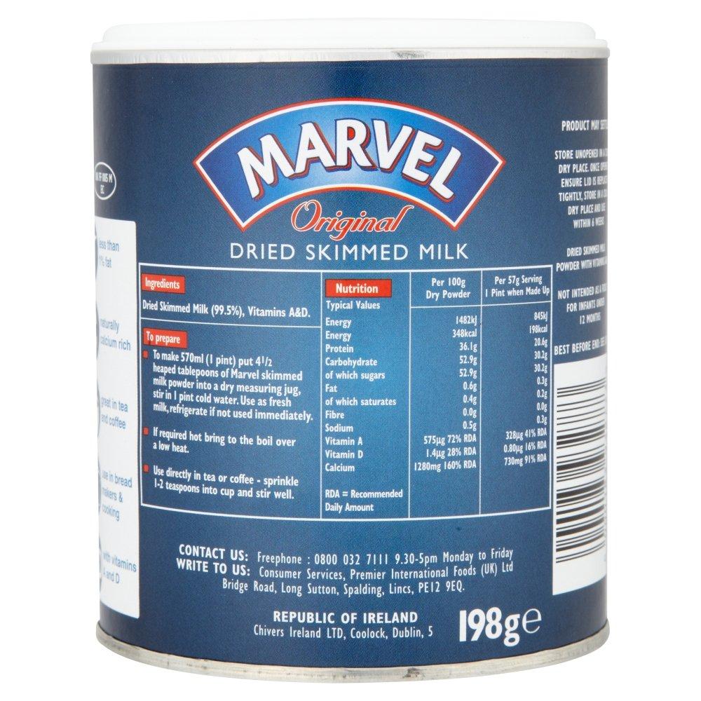 Marvel Original Leche en polvo deshidratada en polvo, 198g: Amazon.es: Alimentación y bebidas