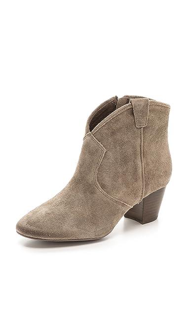 6afecc8dae3 Amazon.com: Ash Women's Spiral Suede Mid Heel Booties, Topo, 38 EU ...
