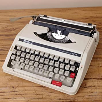 Máquina de escribir Typewriter, 80 s Retro Antique Vintage English Typewriter Normal Use Portable