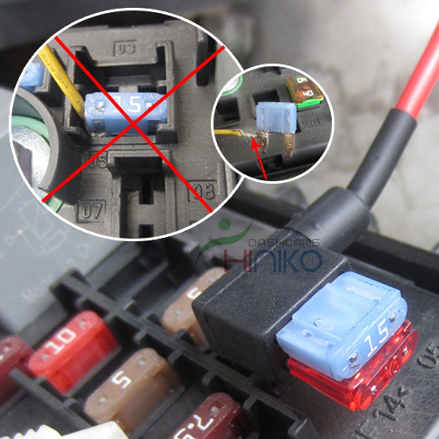 Add-a-Circuit Fuse Tap in Piggy Back Fuse Holder 12//24V 3 x Mini Blade