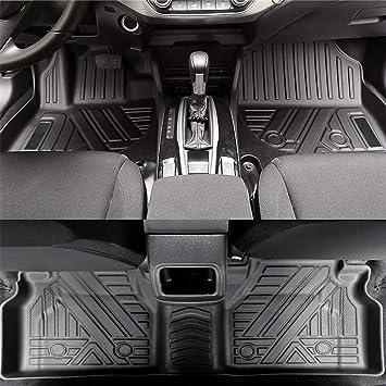 Jialaiwo Auto Fußmatten Gummi Für Land Rover Range Rover Evoque 2020 5 Sitze Fussmatten Allwetter Schutz Wasserdicht Rutschfest Gummimatten Innere Zubehör Vollständiger Satz Schwarz Auto