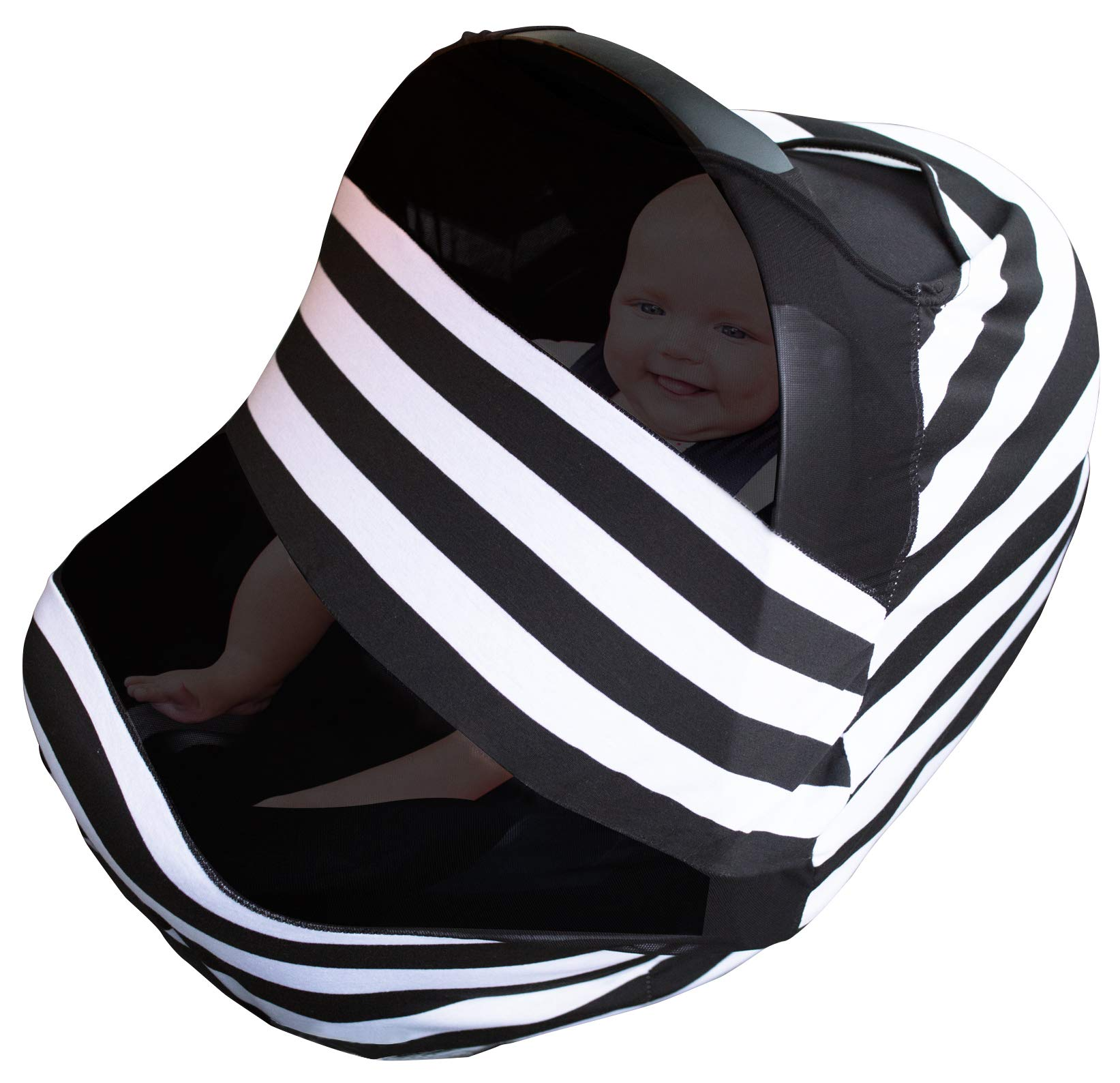 Nursing Cover For Baby Breastfeeding | Infant Stroller, Carseat, Shopping Cart and High Chair Canopy Cover Up For Babies | Soft Stretchy Seat Car Covers For Boys and Girls | Multi Use Infinity Scarf