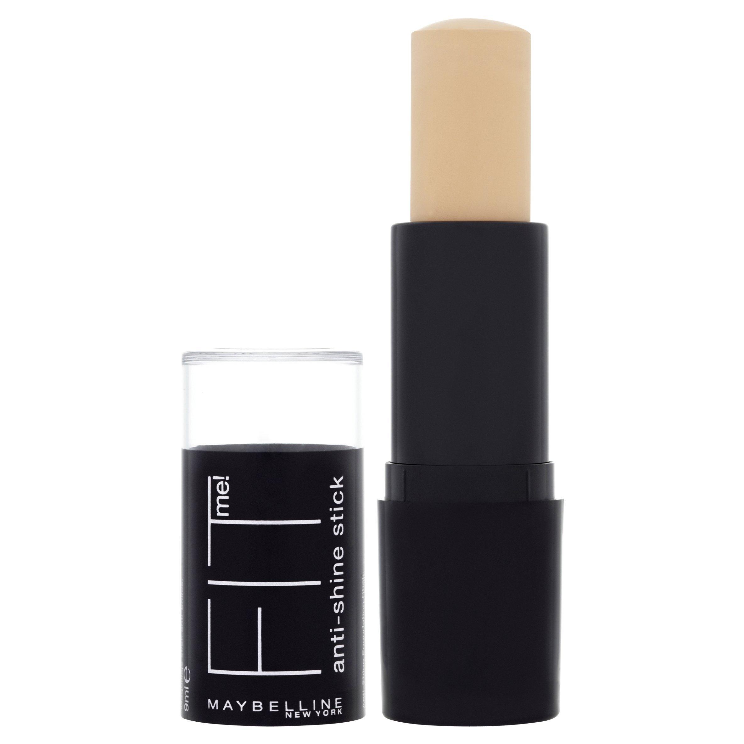 Maybelline New York Fit Me! 2-in-1 Anti Glanz Make-Up Stick Natural Beige 220 / Schminke in einem Hautfarben-Ton, für eine langanhaltende Abdeckung und einen makellosen Look, 1 x 9 g product image