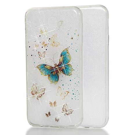 carcasa samsung j7 2017 silicona mariposa