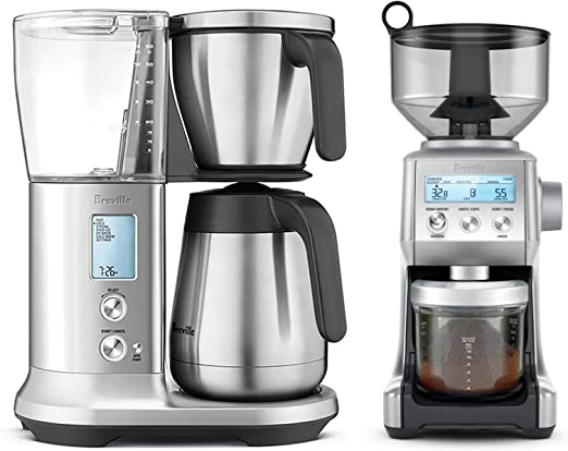 Amazon Com Breville Bdc450bss The Precision Brewer Thermal Bundle With Breville Bcg820bss Smart Grinder Pro Stainless Steel Kitchen Dining