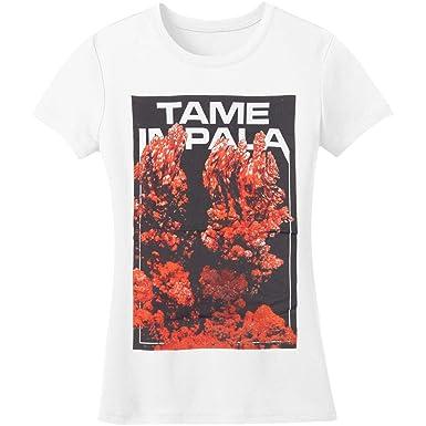91852c874ea1 Amazon.com: Tame Impala Girl's Smoke Junior Top Large White: Clothing
