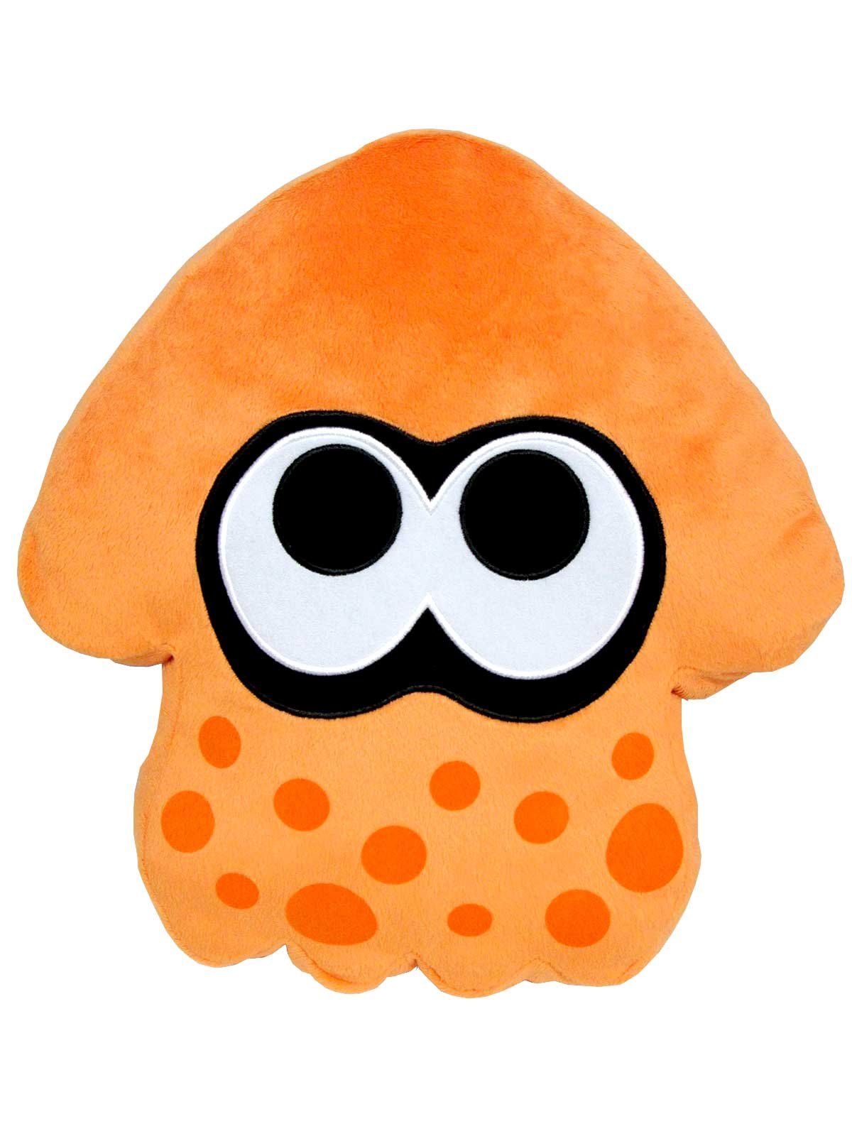 Sanei Splatoon Series Orange Splatoon Squid Cushion 14 inch Plush by Sanei