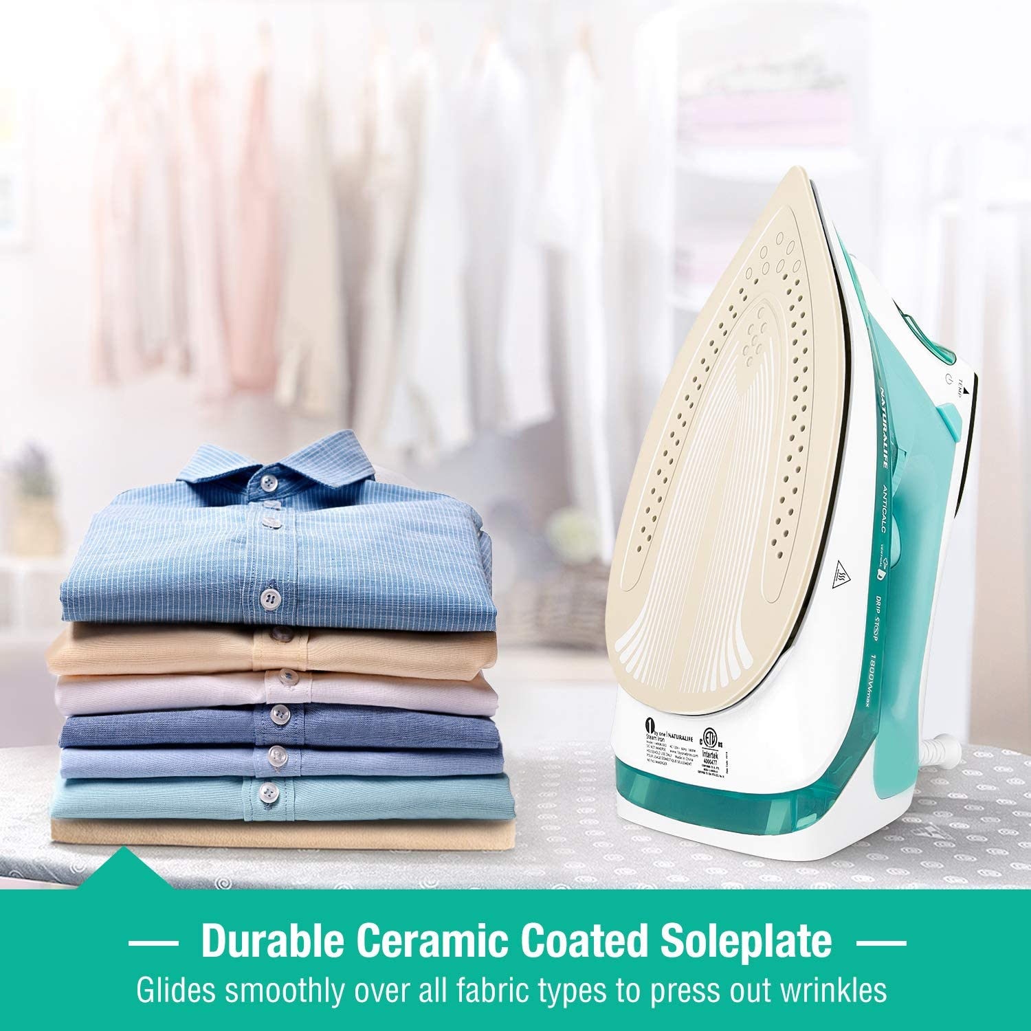 BEAUTURAL Steam Iron with LCD Display