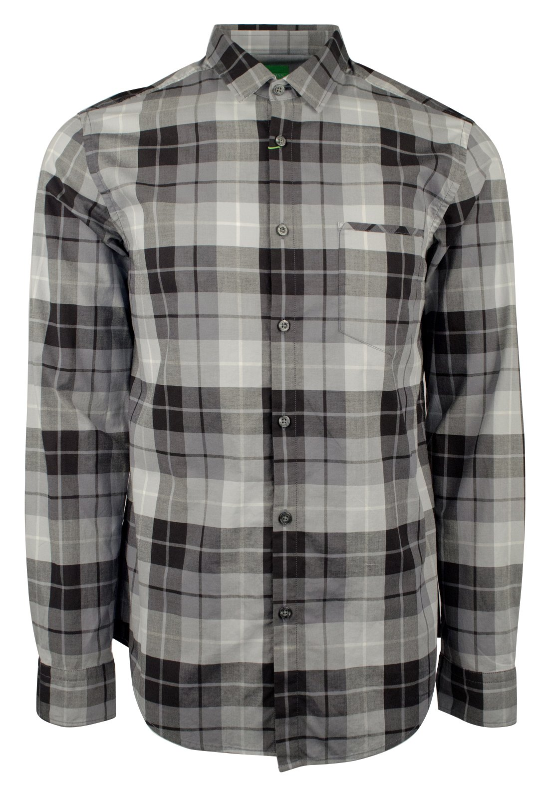 Hugo Boss Men's Green Label C-Bansi Regular Fit Plaid Dress Shirt-BG-S