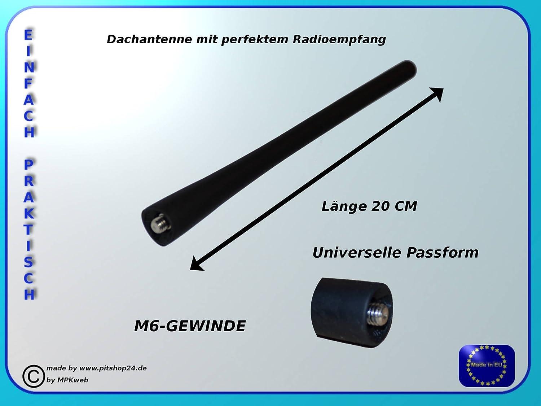 Antenne Dachantenne Kurzstabantenne KFZ Autoantenne 16V Stabantenne Feste M6 Gewinde f/ür Auto Radio empfangt