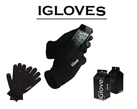 iGlove Glove for iPhone, ipad, Tablets And All Touch Screen Smart Phone's One Size Black With Box Flat Packed For Postage