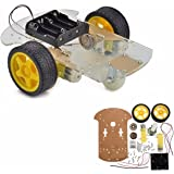 MOHOO Smart Motor Robot Car Chassis Kit velocità dell'encoder Battery Box per Arduino
