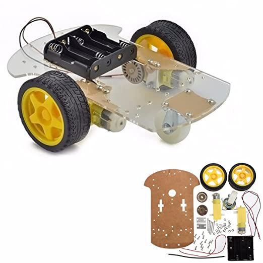 22 opinioni per MOHOO Smart Motor Robot Car Chassis Kit velocità dell'encoder Battery Box per