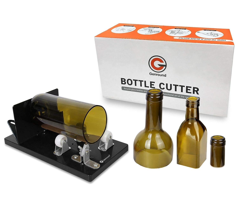 14cf578bb362 Bottle Cutter, Genround [2019 Upgrade 2.1] Glass Bottle Cutter Tool,  Round/Square/Oval Glass Bottle Scoring Machine from Neck to Body, Glass  Cutter ...