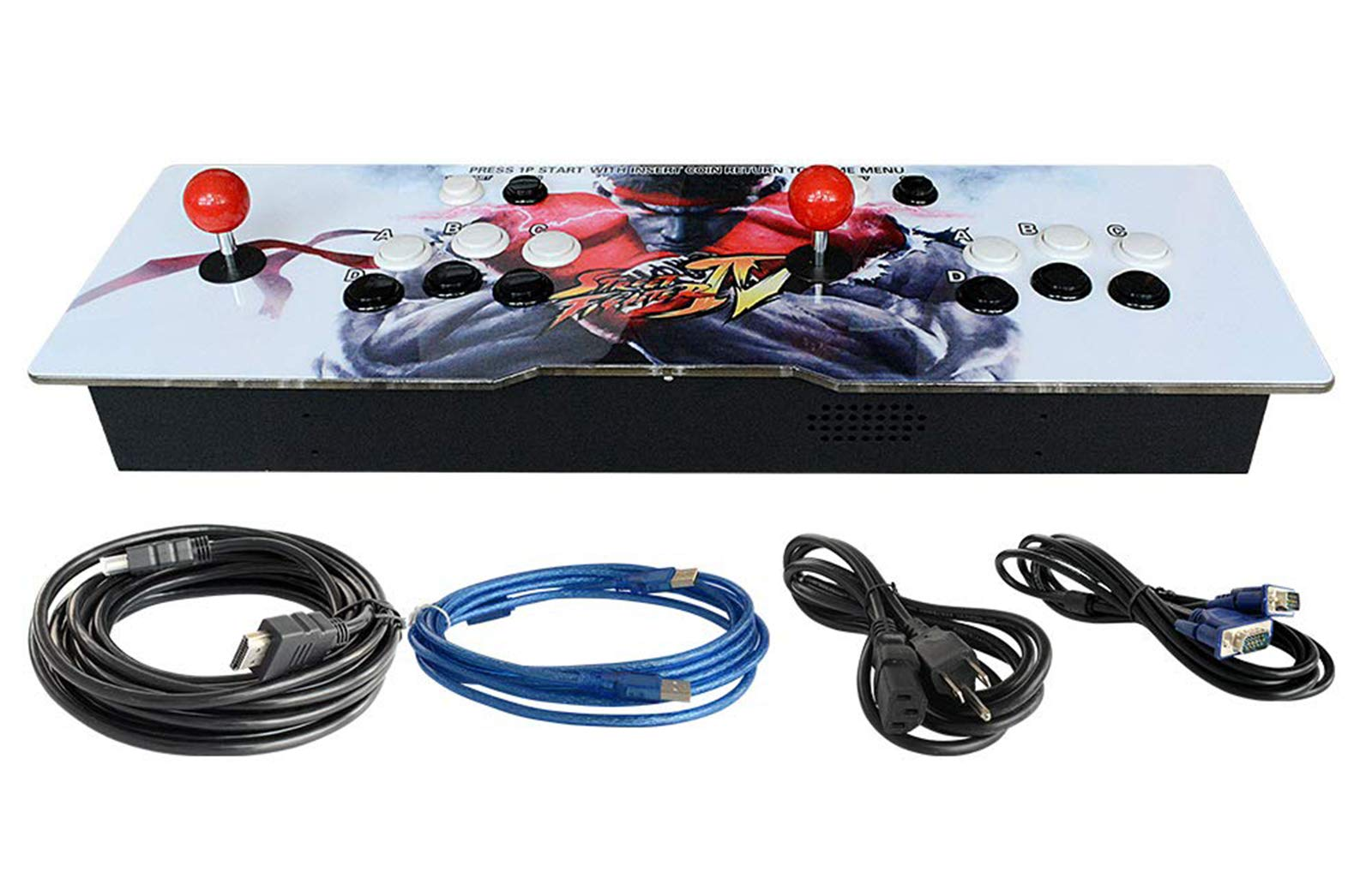 888Warehouse New! Pandora's Box 9S Arcade Console 1080P with 2070 Games in 1, Retro Video Games Double Stick Arcade Console, Supports HDMI and VGA Output for TV and PC by 888Warehouse (Image #2)