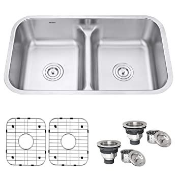 Ruvati RVM4350 Double Bowl Farmhouse Sink