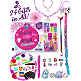 Purple Ladybug 2020 Advent Calendar for Girls with 24 Unique Gifts - Makeup, Glitter Tattoos, Hair Accessories, Jewelry, Stic