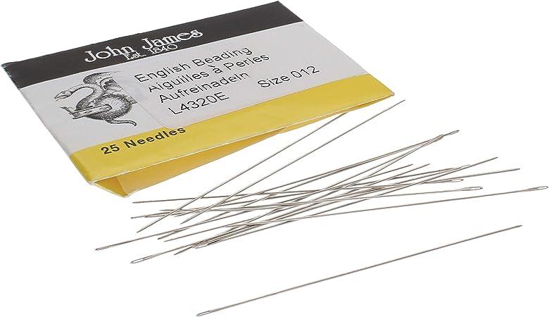 Size 15 Package of 4 Needles. Beading Needles