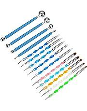 14 Piezas de Herramientas de Punteado Kit de Pinceles Herramientas de Punteado de Arte de Uña