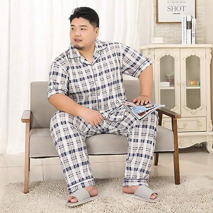 LIYANGEP Hombres Verano y otoño más Gordo Pantalones de Manga ...
