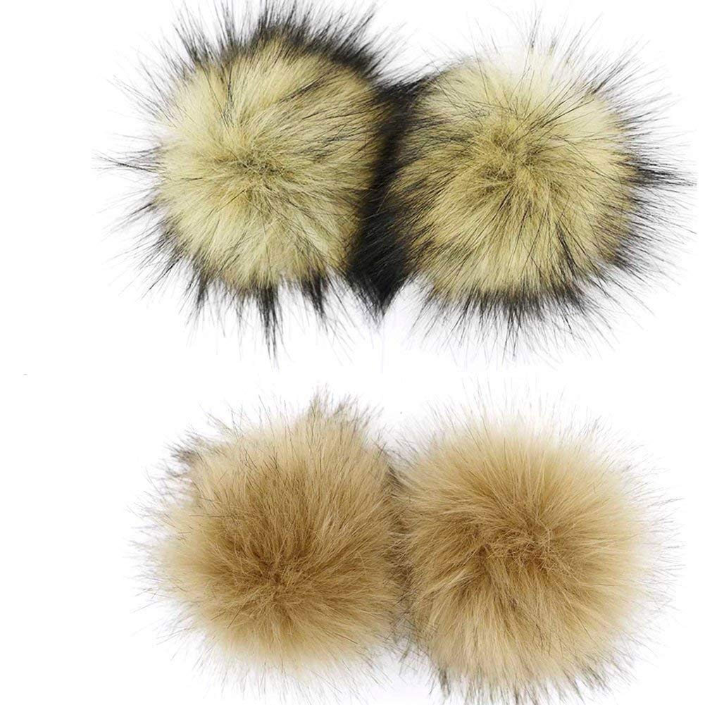 12pcs 10cm Kunstpelz Pompom Ball Keychain Hut Tasche Cap Zubehör