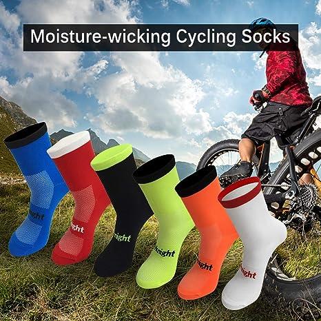 Explopur Calcetines de Ciclismo Calcetines de Bicicleta Que ...
