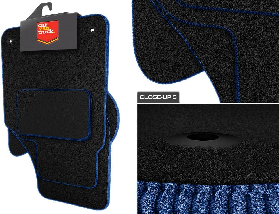 Kuga Vehicle Specific Car Mat Set in Black Carpet with Black Edge Trim Colour Car Van Truck Brand Name ZZ126:CT55 2013-2018 4 Piece
