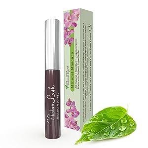 NaturLash Mineral Mascara (BROWN)   Natural   Non GMO   Hypoallergenic for Sensitive Eyes   Add Length & Volume   Vegan   Cruelty Free   Soften, Nourish & Grow Better Lashes!
