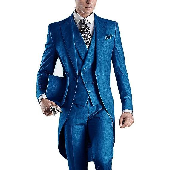 super popular f1eb6 bac8e Lilis® Premium Herren Tail Tuxedo 3pc Frack Anzug in Grau Schwarz  Anzugjacke, Weste, Anzughose