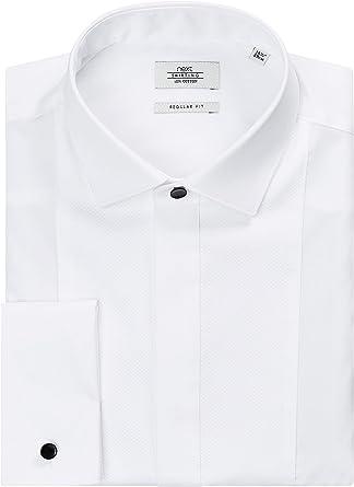 next - Camisa Casual - Manga Larga - para Hombre Blanco X ...