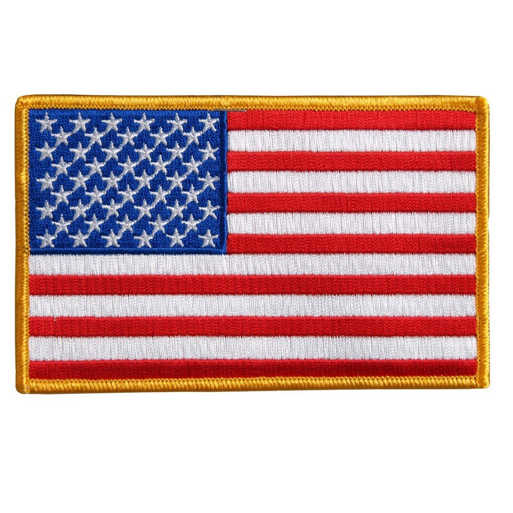 Aufnä her Zum Aufbü geln, Motiv Flagge Amerikanische Flagge fü r Weste AMT Custom